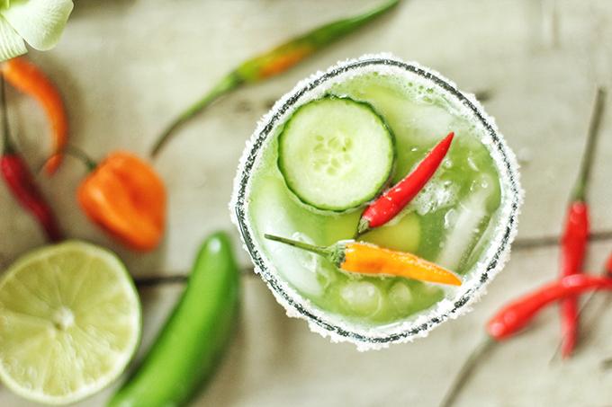 Green Jalapeño Margaritas // JustineCelina.com