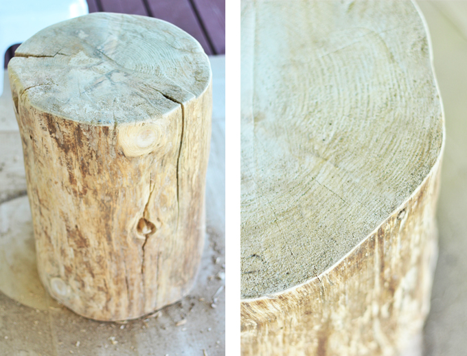 DIY | Natural Tree Stump Side Table How To // JustineCelina.com