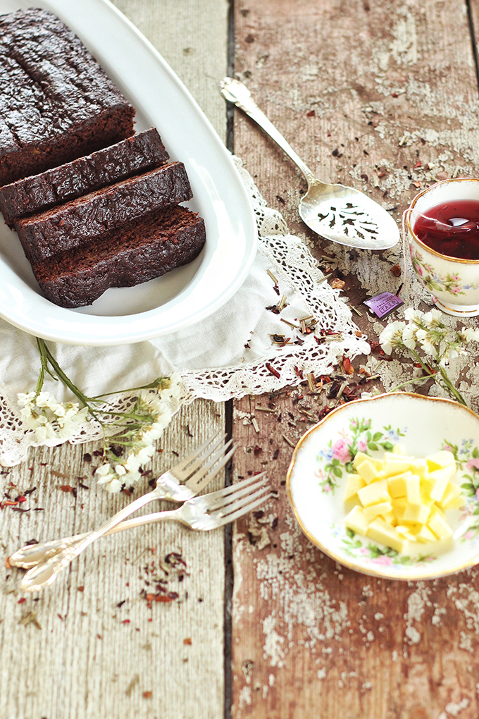 Decadent Dark Chocolate Banana Bread // JustineCelina.com