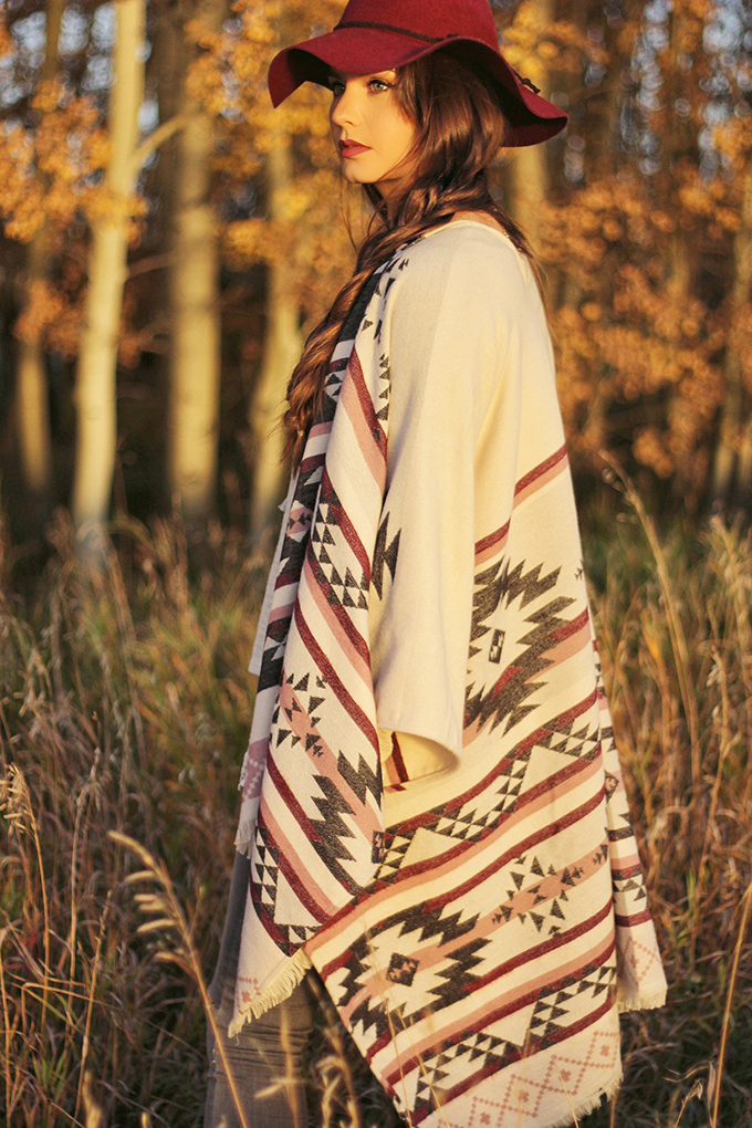 How to Style a Poncho // JustineCelina.com