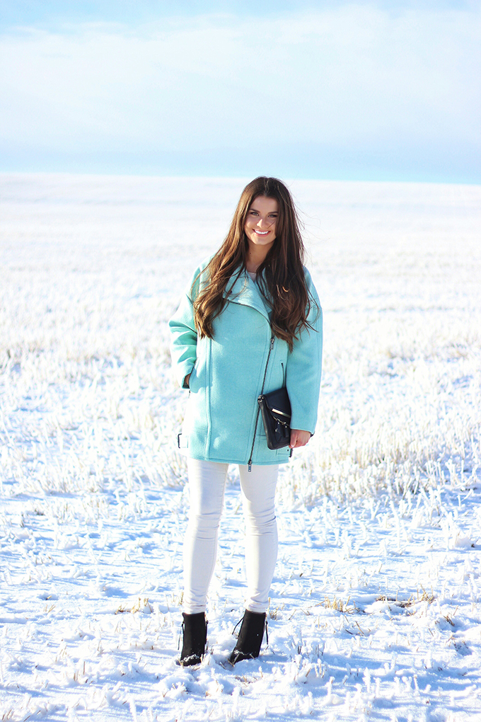 Minty Fresh   How to Wear Winter Pastels // JustineCelina.com