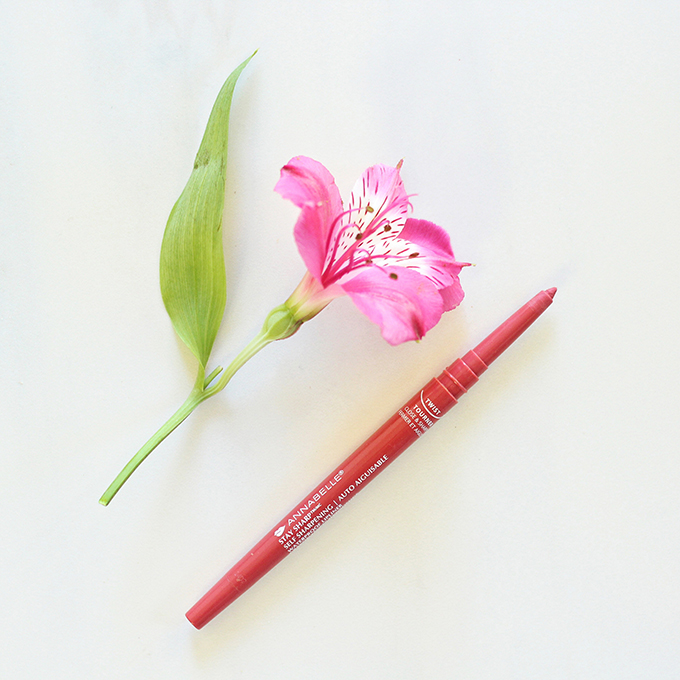 Annabelle Stay Sharp Self Sharpening Waterproof Lipliner in Vintage // January 2016 Beauty Favourites Photos, Review, Swatches // JustineCelina.com