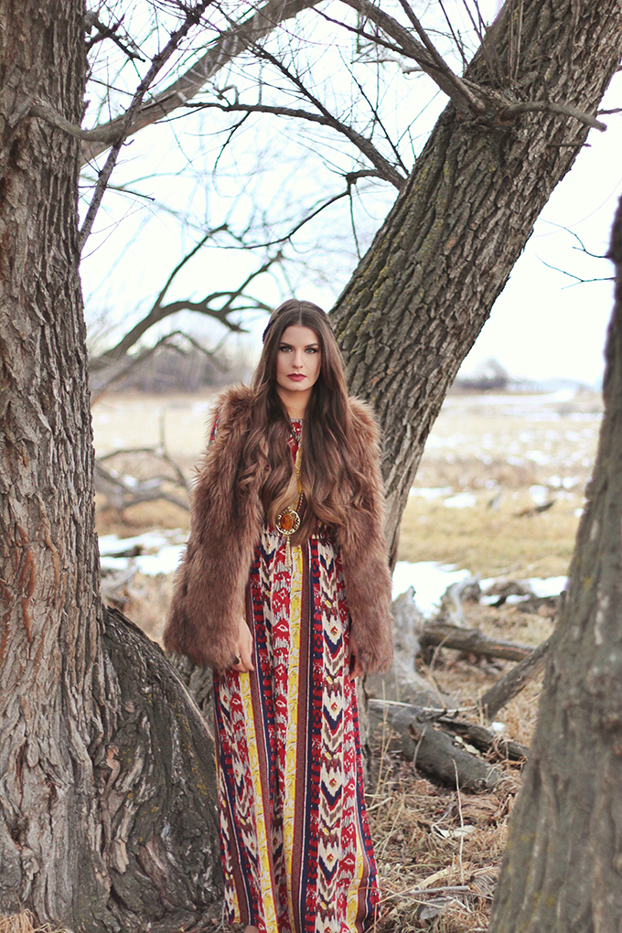 Winter Boho + How to Shop for Great Vintage // JustineCelina.com