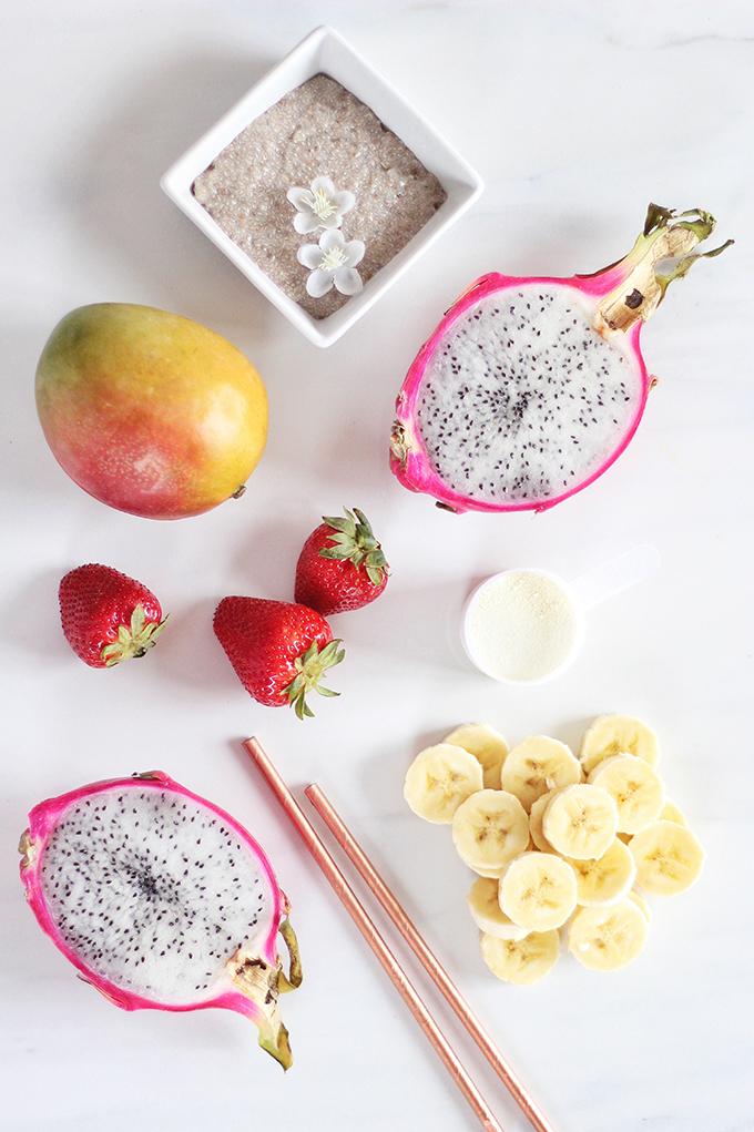 Dragonfruit Bubble Tea Smoothie // JustineCelina.com