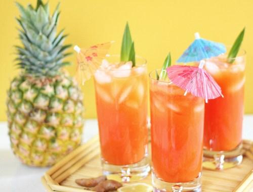 Tropical Pineapple Turmeric Cooler // JustineCelina.com
