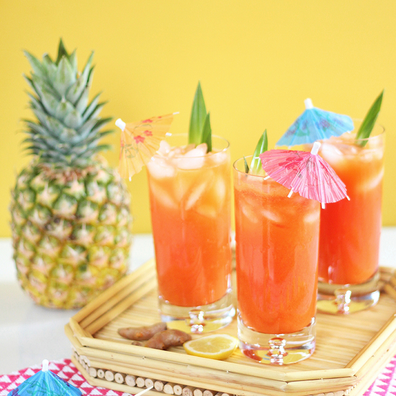 Tropical Pineapple Turmeric Cooler // JustineCelina.com