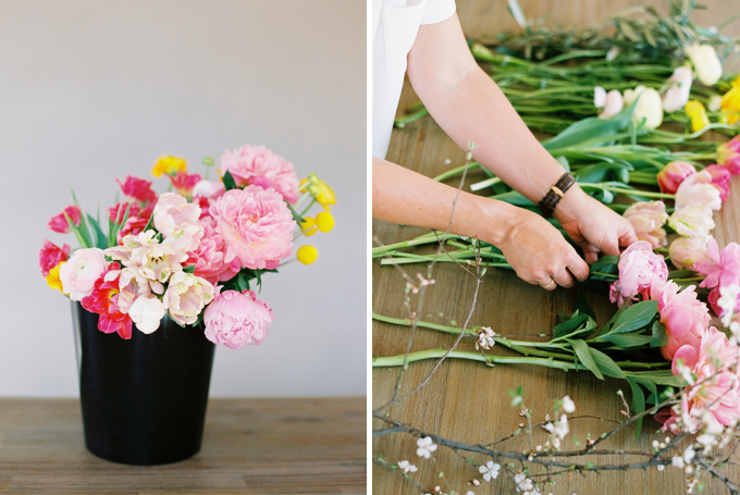DIY | How to Make a Summer Flower Arrangement with Rebecca Dawn Design // JustineCelina.com