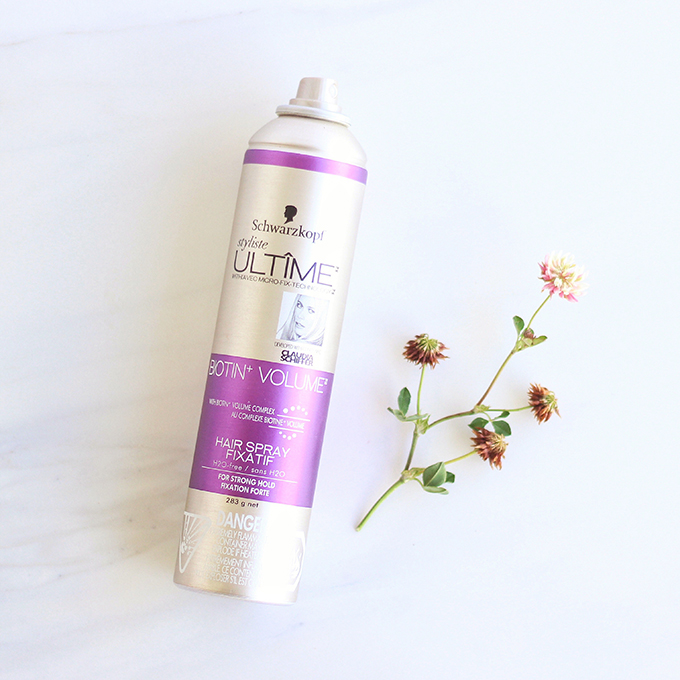Schwarzkoph Styliste Ultime Biotin+ Volume Hairspray Photos, Review // JustineCelina.com