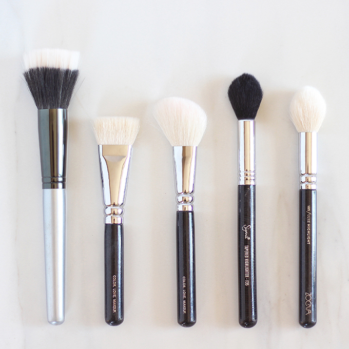 Makeup Brush 101 | Your Complete Guide to Makeup Brushes and How to Use Them | The Best Bronzer, Blush and Highlight Brushes // JustineCelina.com