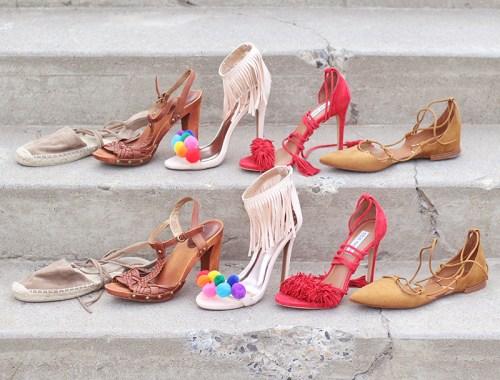 Shoes of Summer + End of Season Sales // JustineCelina.com