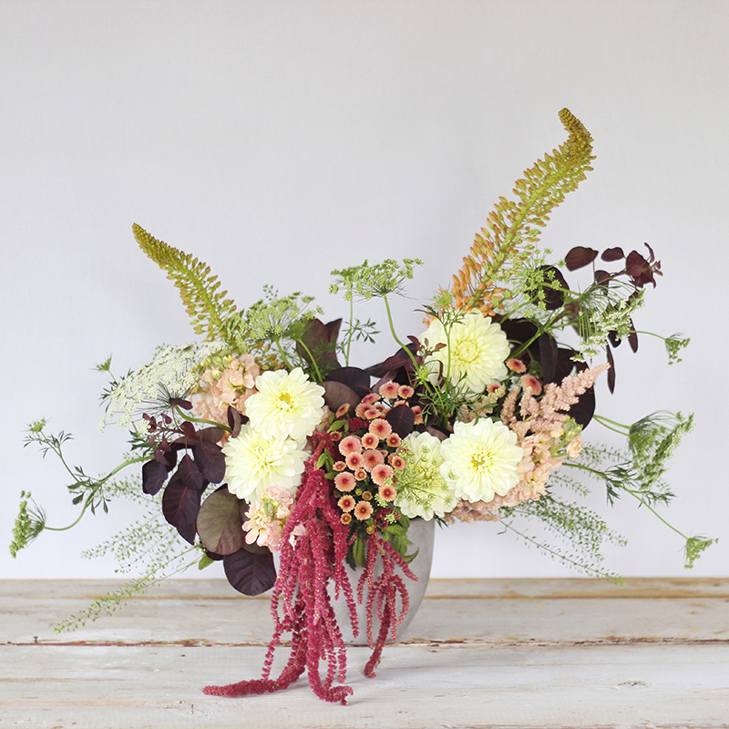 An Introduction to Autumn Flowers // JustineCelina.com x Rebecca Dawn Design