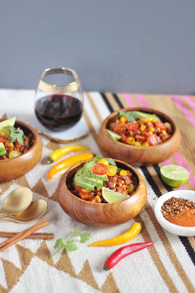 Indian Summer Vegan Chili | A HomeSense Gourmet Food Story // JustineCelina.com