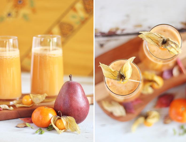 Autumn Energizer Juice with Cinnamon & Nutmeg // JustineCelina.com