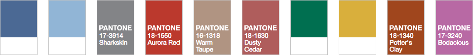 Fall 2016 Pantone Fashion Trend Report