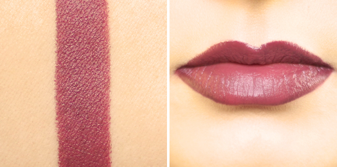 TEMPTU Color True Lipstick in Plush Plum Photos, Review, Swatches | The Marsala Lip Collection // JustineCelina.com