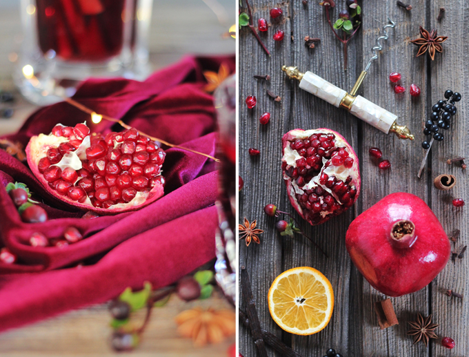 Vanilla Pomegranate Mulled Wine Ingredients // JustineCelina.com