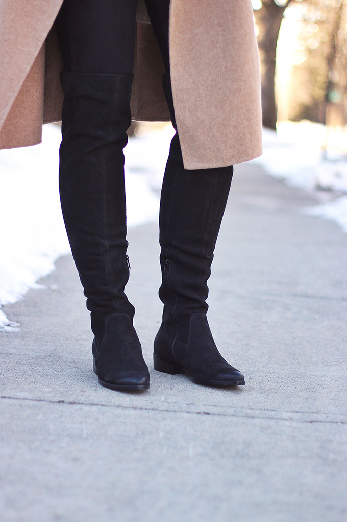 WINTER 2017 SHOE GUIDE: BASICS | Black, Flat, Over the Knee Boots // JustineCelina.com