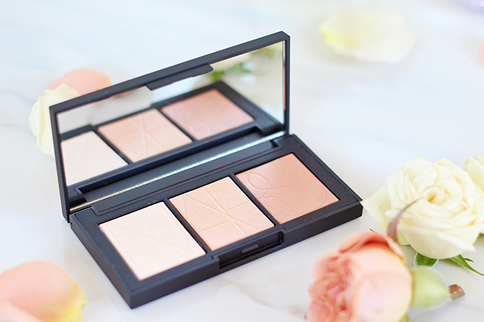 NARS Banc De Sable Highlighter Palette Photos, Review // Spring 2017 Beauty Trend Guide // JustineCelina