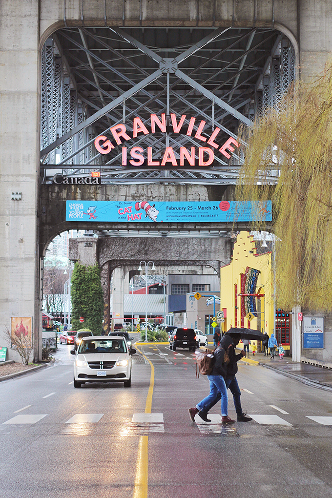 Travel Guide | Granville Island Sign // JustineCelina.com