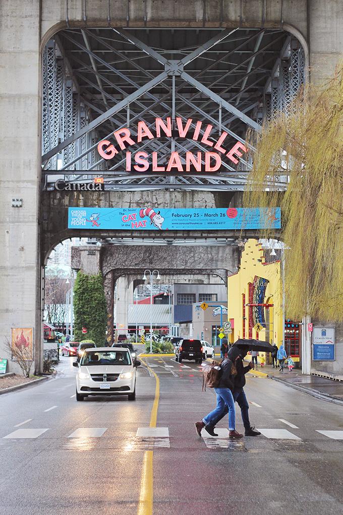 Travel Guide | Granville Island Sign // JustineCelina.com