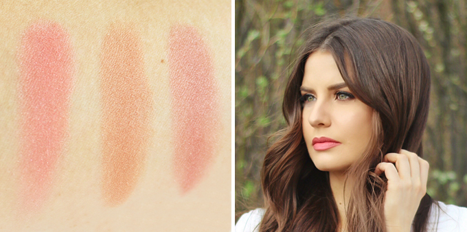 Hourglass Ambient Strobe Lighting Blush in Incandescent Electra and Brilliant Nude Photos, Review, Swatches // JustineCelina.com