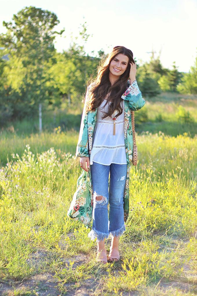 Summer 2017 Trend Guide | Kimono Love | Eyelet // JustineCelina.com