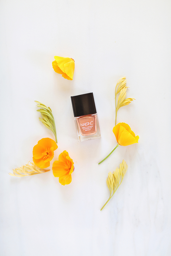 NAILS INC. Sweet Almond Nail Polish Powered By Matcha Mayfair Market Photos, Review, Swatches | June 2017 Beauty Favourites // JustineCelina.com