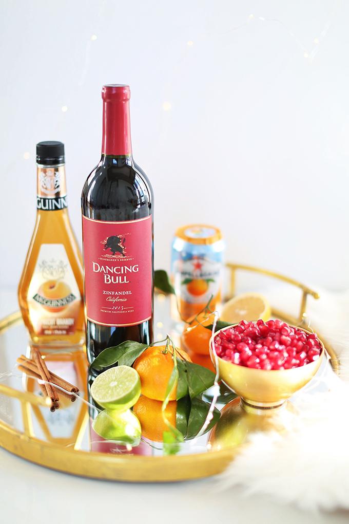 Classic Winter Citrus Red Sangria Ingredients // JustineCelina.com