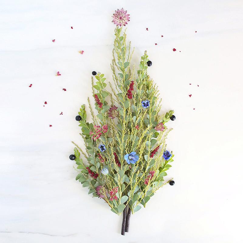 Digital Blooms December 2017 | Free Desktop Wallpapers | Design 1 // JustineCelina.com x Rebecca Dawn Design
