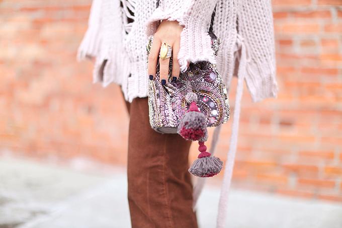 How to Style | Oversized Knits | Winter 2018 // JustineCelina.com | Dean Davidson Ornate Ring // JustineCelina.com