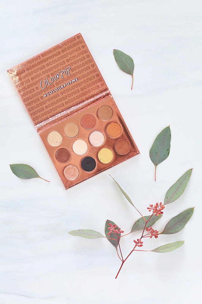 Colourpop I Think I Love You Pressed Eyeshadow Palette   November 2017 Beauty Favourites //Photos, Review, Swatches // JustineCelina.com