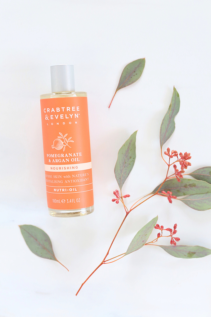 Crabtree & Evelyn Pomegranate & Argan Oil Nutri-Oil Photos, Review | November 2017 Beauty Favourites // JustineCelina.com