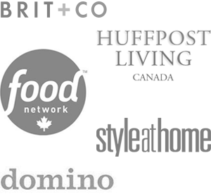 JustineCelina's work has been featured on Brit + Co, Huffpost Living Canada, Food Network Canada, Style at Home and Domino Magazine