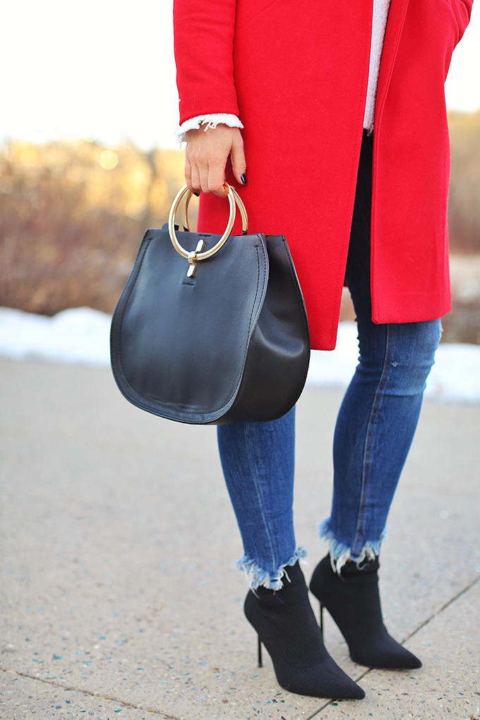 Winter 2018 Trend Guide | Red Hot | Distressed Hems // JustineCelina.com