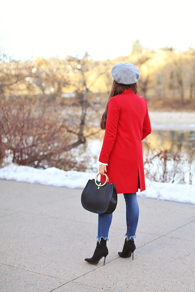 Winter 2018 Trend Guide | Red Hot | Sock Boots // JustineCelina.com