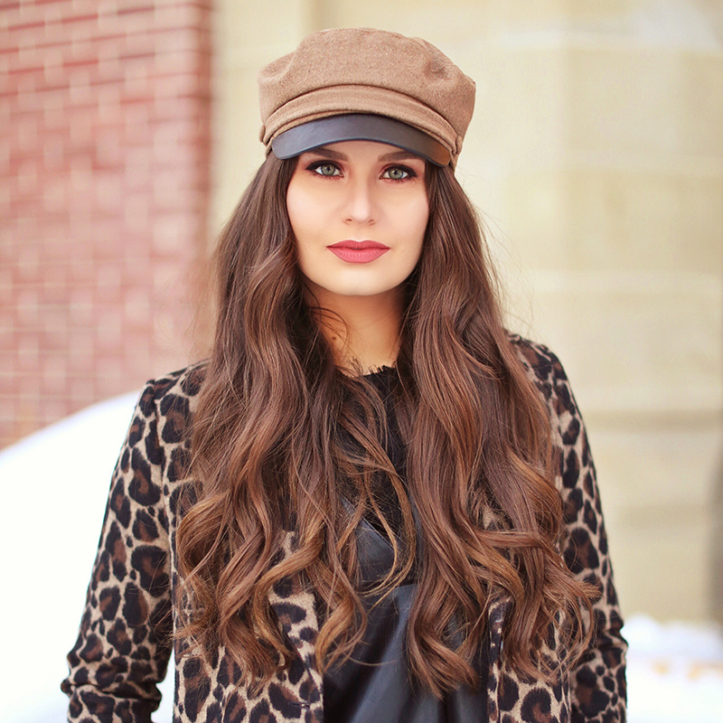 Pattern Play | Leopard Print | Winter to Spring 2018 Transitional Fashion Ideas | Calgary, Alberta Fashion Blogger | Canadian Fashion Blogger | Best Gucci Dionysus Dupe Under $50 // JustineCelina.com