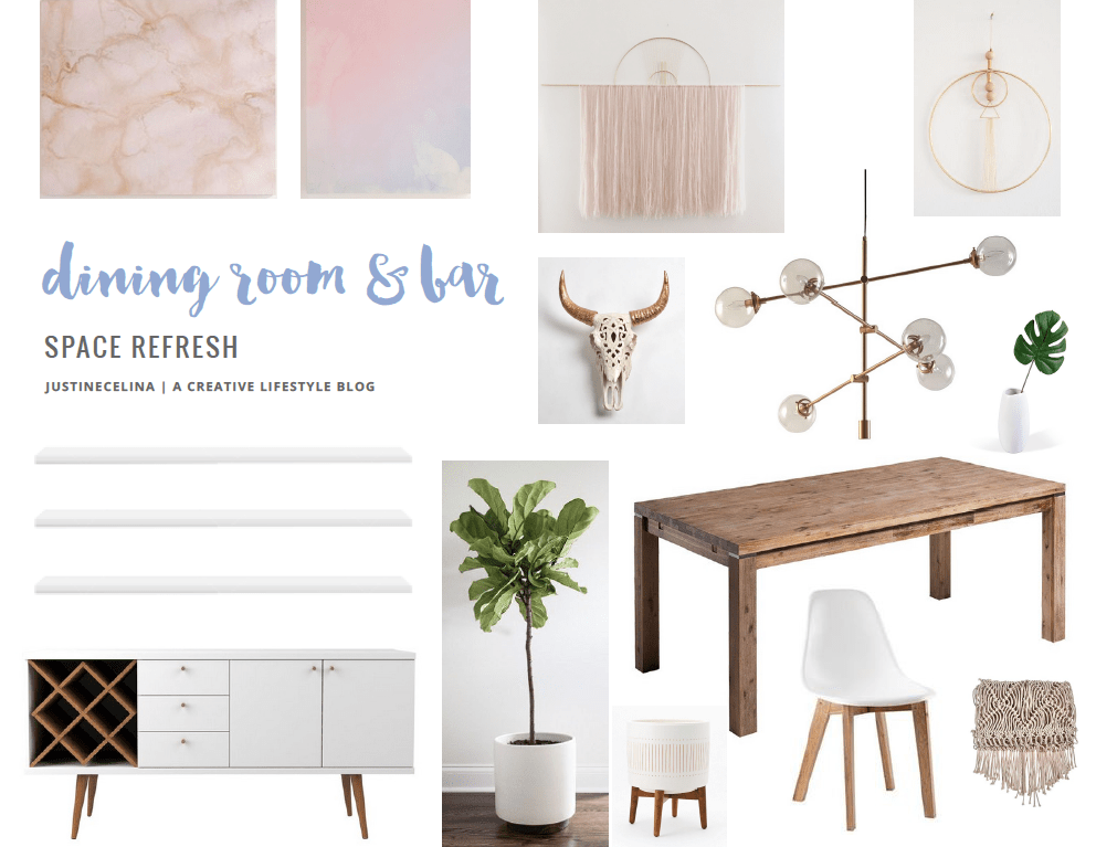 Dining Room / Bar Reveal Mood Board // JustineCelina.com