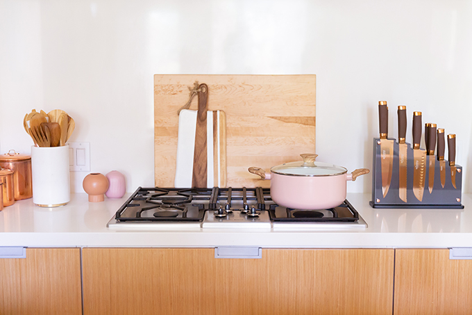 Kitchen / Dining Room / Bar Reveal in Partnership with HomeSense Canada | Kitchen and Cookware Essentials | A Bohemian, Mid Century Modern Apartment in Calgary, Alberta, Canada // JustineCelina.com