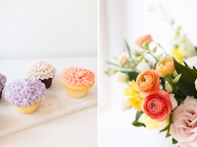 My 3rd Blogiversary + 10 Things I Learned in my Third Year of Blogging | Lavender and Blush Garden Cupcakes and Cheerful Spring Flowers | A Pantone Spring 2018 Inspired Birthday Celebration // JustineCelina.com