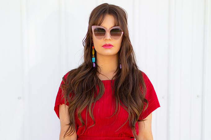 Colour Crush | Red | How to Style Red for Summer 2018 | Red to Toe | Monochromatic Red Outfit // JustineCelina.com
