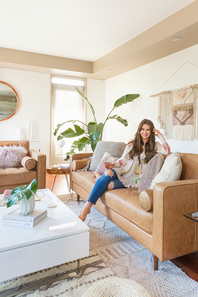 How to Select and Care For Houseplants | Justine Celina Maguire's Mid Century Modern, Boho Apartment in Calgary, Alberta, Canada // JustineCelina.com