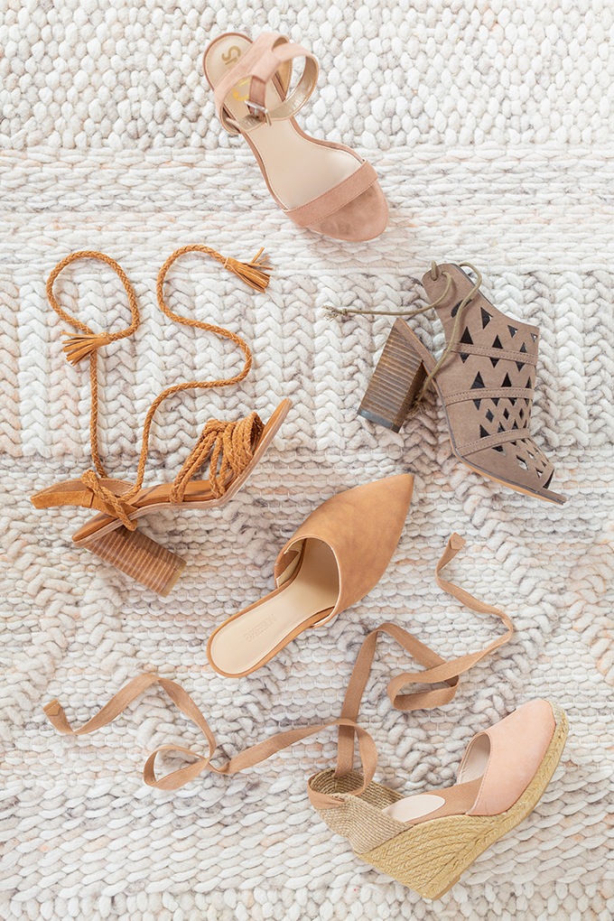 Transitional Shoe Guide | Summer to Autumn 2018 // The Best Shoes to Transition from Summer into Fall | Top Shoe Trends 2018 | Warm Neutral Palette // JustineCelina.com