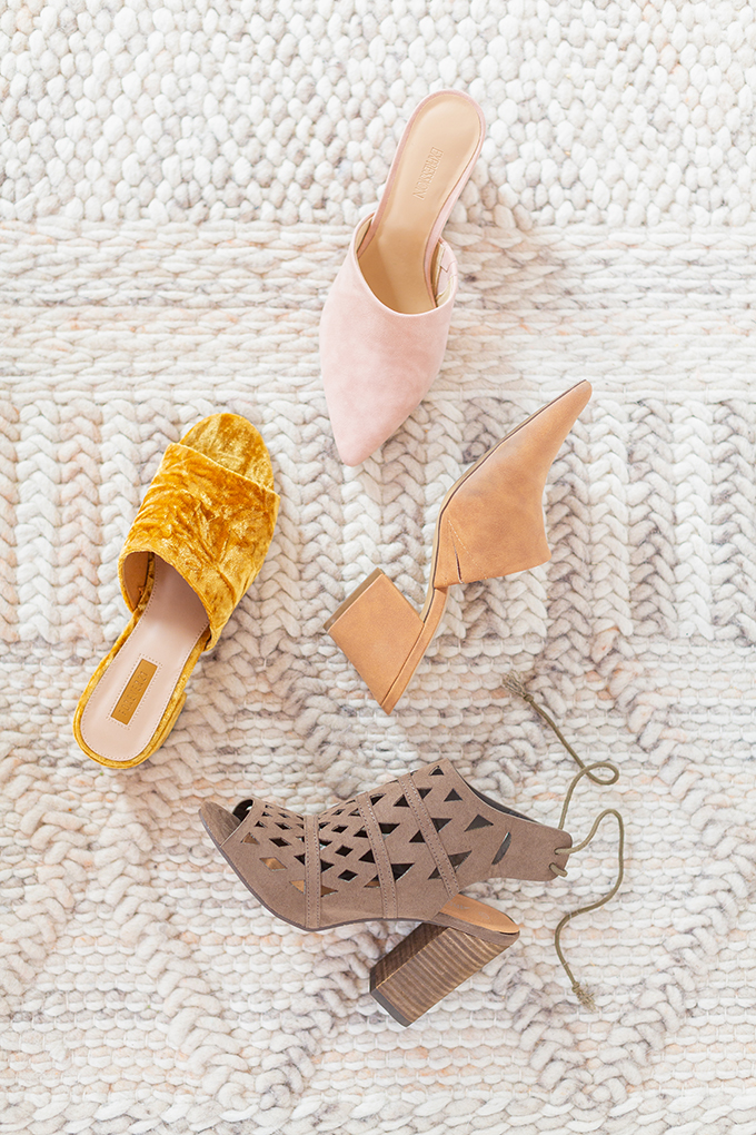 Transitional Shoe Guide | Summer to Autumn 2018 // The Best Shoes to Transition from Summer into Fall | Top Shoe Trends 2018 | Mules // JustineCelina.com