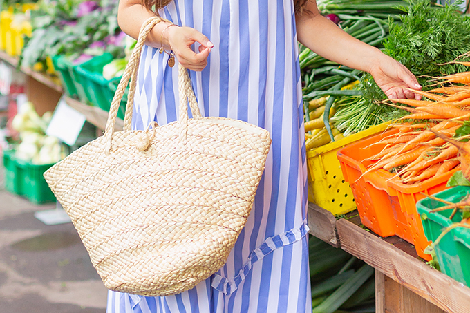 The Accessory Edit | Natural Material Bags | Straw Tote | How to Style Straw Totes | The Best Straw Totes 2018 // JustineCelina.com
