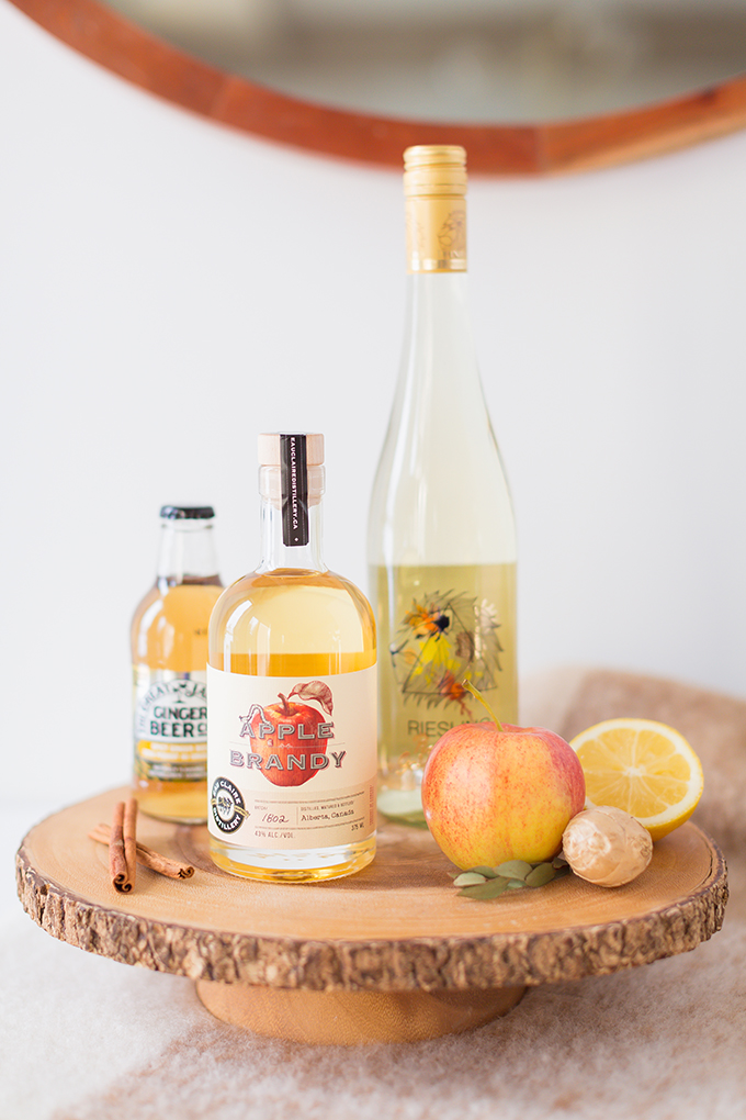 Late Harvest Spiced Apple Sangria | Featuring Eau Claire Distillery's Apple Brandy, late harvest riesling and ginger beer // JustineCelina.com