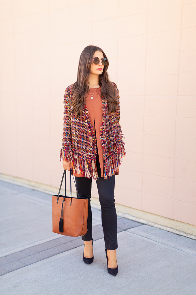 Autumn 2018 Lookbook | How to Incorporate Seasonal Trends into your Professional Wardrobe | Autumn 2018 Trends in Work Wear | Tweed | JustineCelina.com