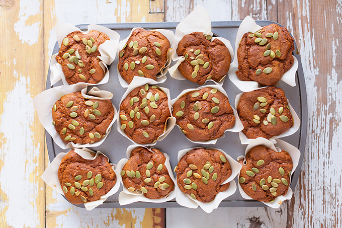#GlutenFree #Pumpkin #Turmeric #Muffins   Healthy, Plant Based Pumpkin Muffins   Superfood Muffins   Healthy Turmeric Recipes   Vegetarian Muffins Recipes   The Best Gluten Free Muffins Recipe // JustineCelina.com