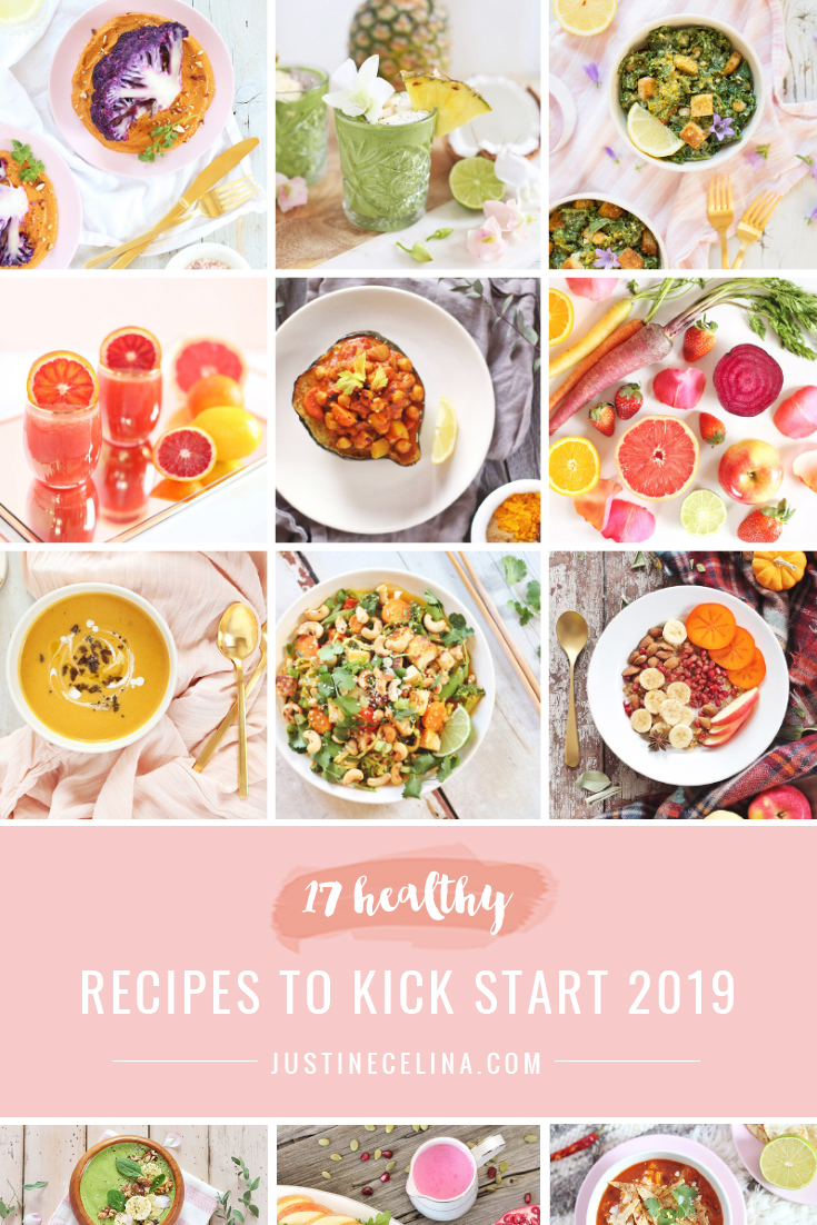 17 Healthy Recipes to Kick Start 2019 | #Healthy, #PlantBased, #Vegetarian, #Vegan Recipes for the New Year // JustineCelina.com