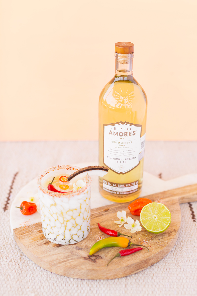 Creamy Coconut Mango Mezcalritas | Mango Margarita | Coconut Mango Margarita | Smoky Mezcal Cocktails | Mango Mezcal Margarita | Tajín Salted Rim | Mezcalerita Drink | Best Mezcal Oaxaca | Mezcal Margarita Recipe | Simple Mezcal Cocktails | Vegan Mezcal Cocktail | Oaxacan Mezcalrita Recipe | Mango Margarita Cointreau | Dairy Free Mango Coconut Cocktail | Mezcal Amores Espadín Reposado Cocktail | Calgary Cocktail Photographer and Stylist | Calgary Lifestyle and Food Blogger // JustineCelina.com