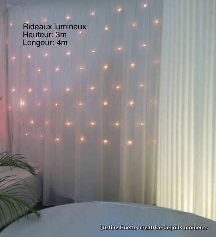 rideau lumineux blanc